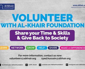 Volunteer with Al-Khair Foundation