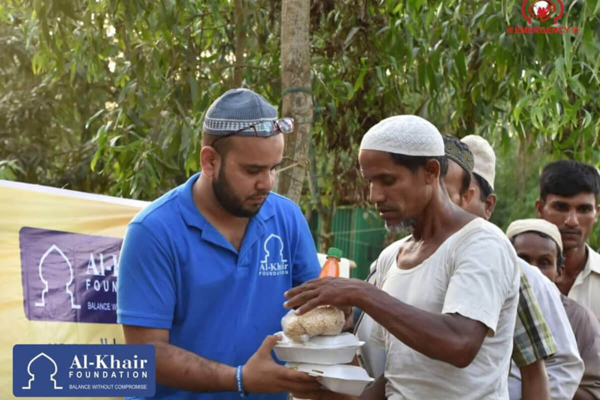 Emergency Food Pack Distribution for Rohingya Refugees in Balukhali Camp